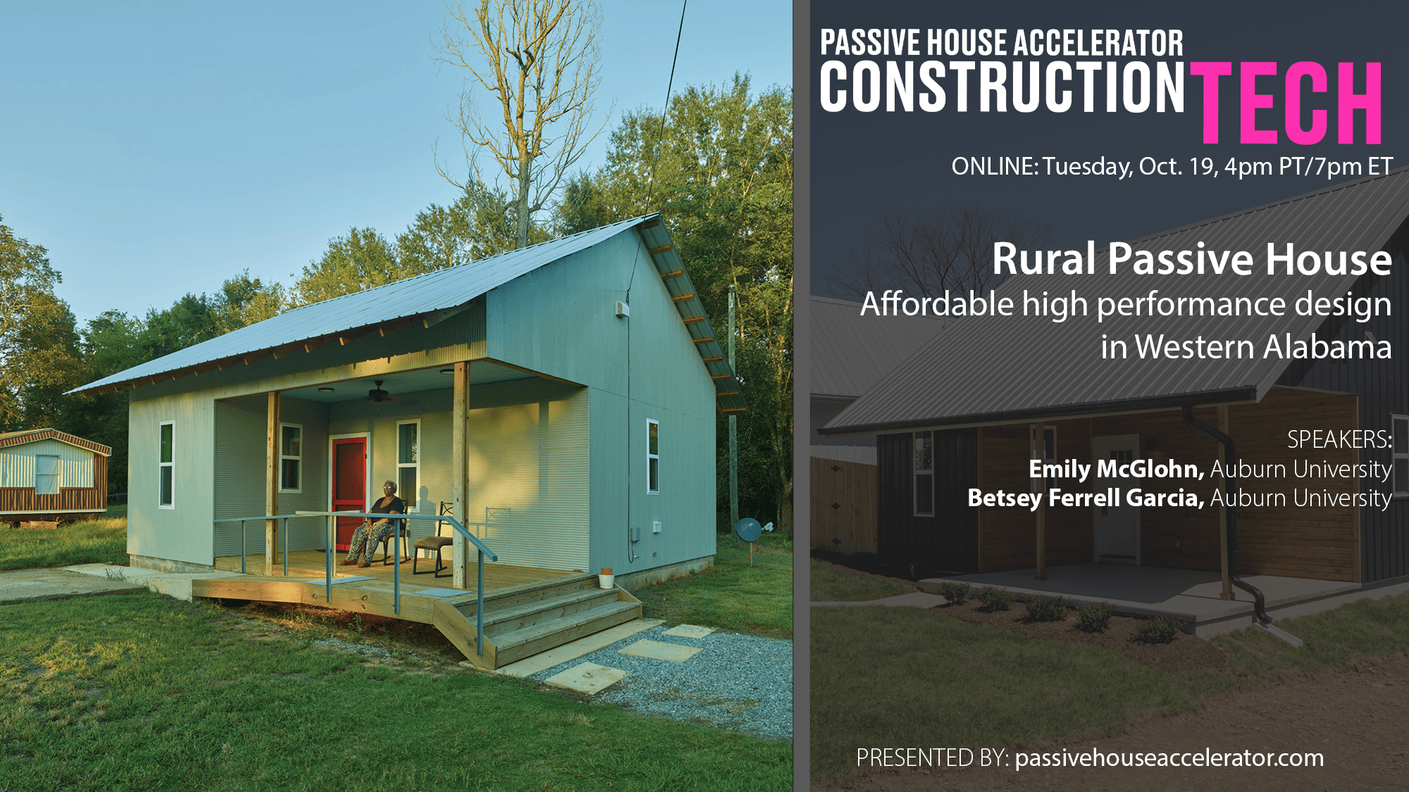 Rural Passive House Initiatives in Western Alabama and the Southeast