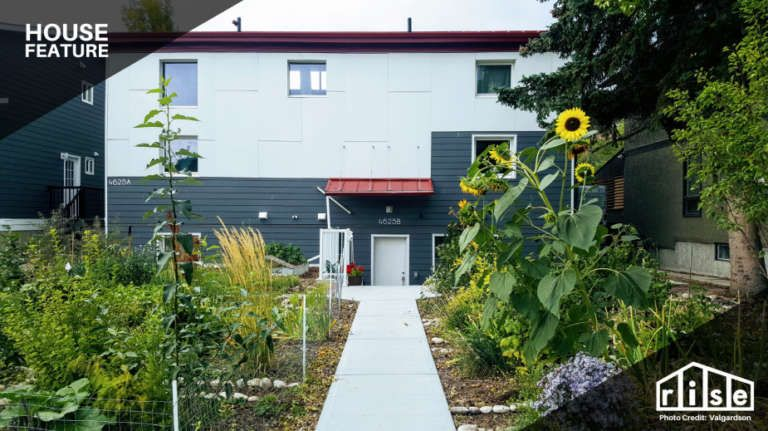 Passive House with a Permaculture Yard in Calgary